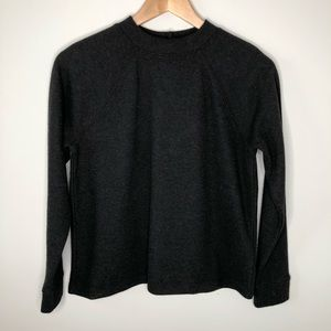 Madewell Gray (Re)sourced Plush Button-Back Top XS